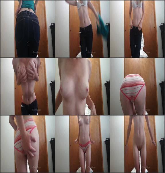 Teeny Ginger - skinny jeans striptease 2017/10/19