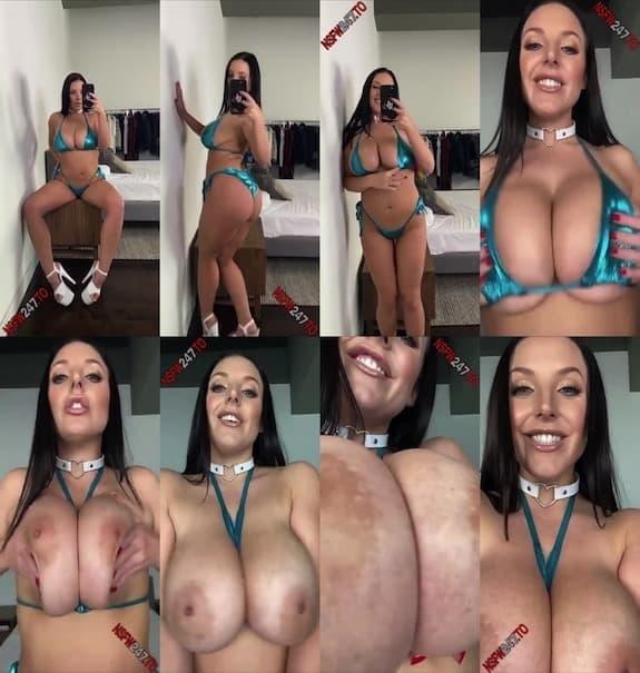Angela White big boobs tease snapchat premium 2020/03/21