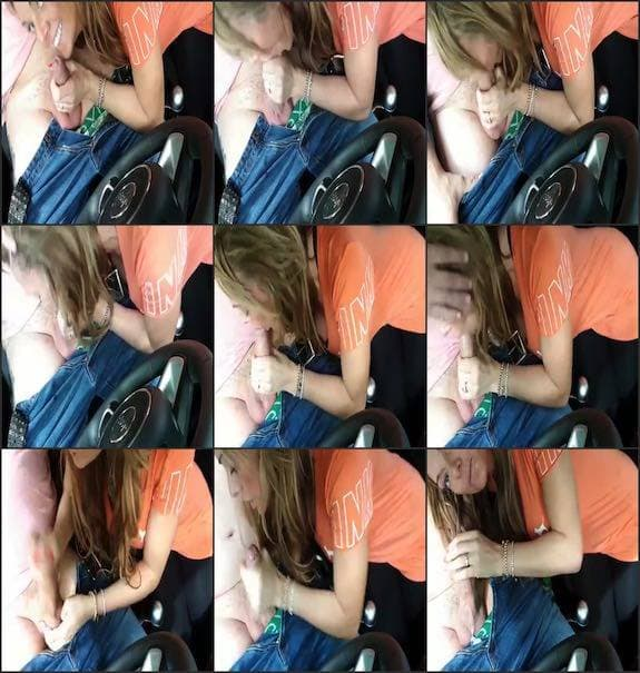 Stacey Saran - public in car blowjob