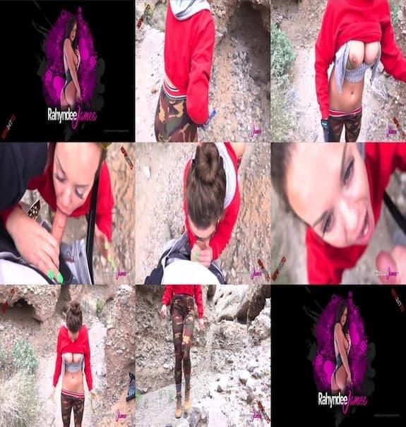 Rahyndee James - sucking dick on a hike