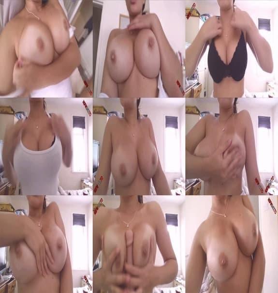 Ria Martinez - teasing her huge tits in black bra
