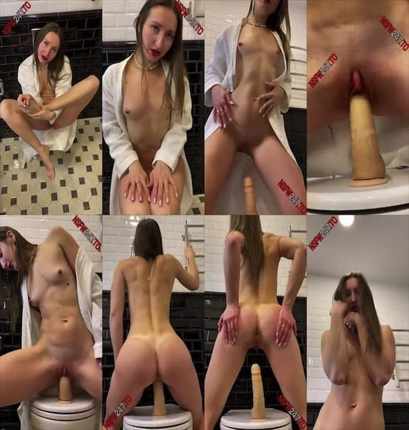 Kara Kapri riding dildo on toilet snapchat premium 2020/05/09