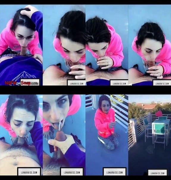Luna Raise balcony blowjob cum in mouth snapchat premium 2018/11/25