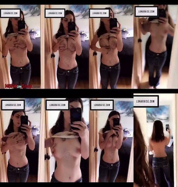 Luna Raise mirror view boobs tease snapchat premium 2018/11/28