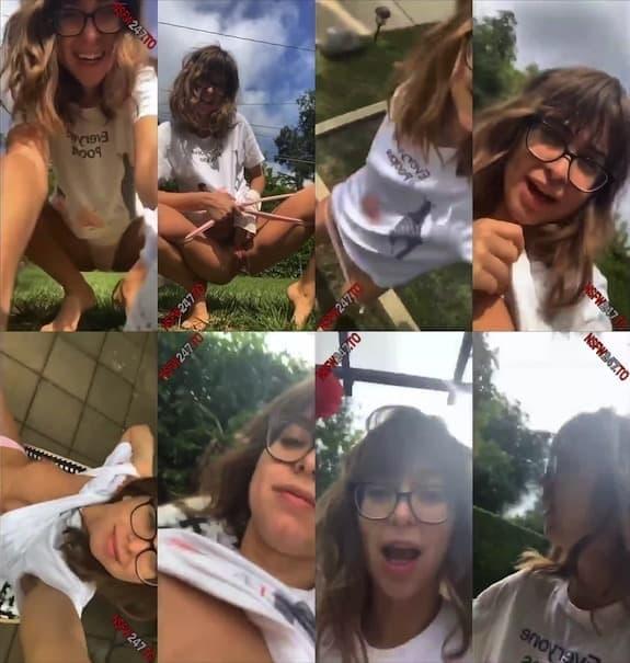 Riley Reid outdoor pee show snapchat premium 2020/08/29