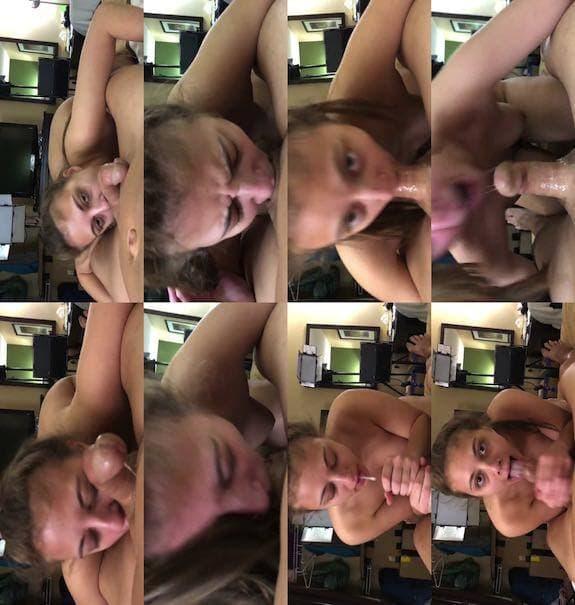 Gia Derza - Never seen POV hidden camera Titty fuck and BJ