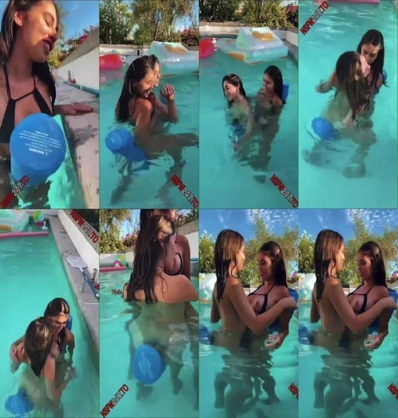 Violet Summers - My sister riding a pool noodle with me! 2020/06/11
