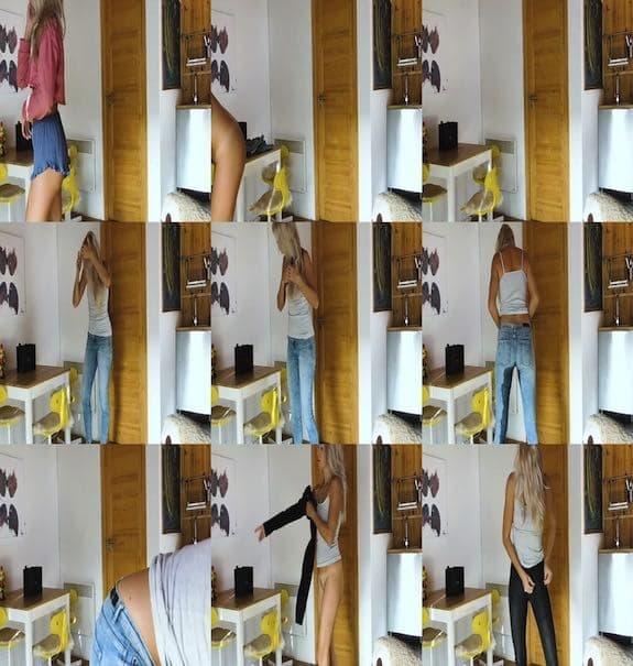 Jana Volkova - Jana pees in jeans