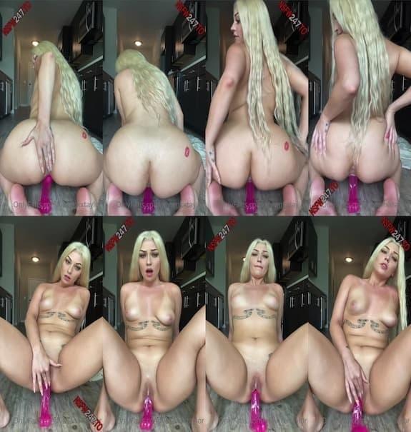 Vivian Taylor - riding a pink dildo