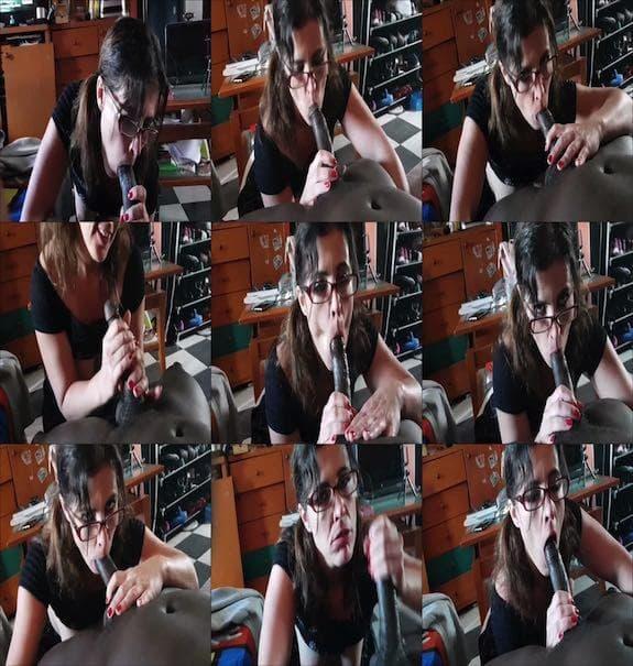 Montse Swinger - Interracial blowjob