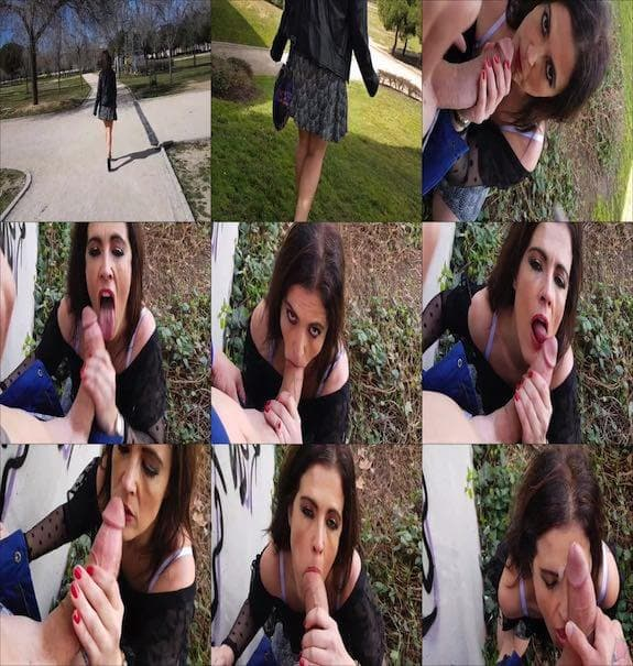 Montse Swinger - PUBLIC BLOWJOB IN THE PARK