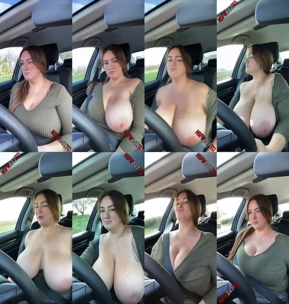 Lee Anne tits flashing in car while driving snapchat premium 2020/11/14