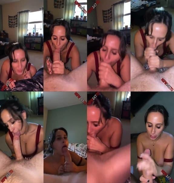 Ashley Adams blowjob with cum on face snapchat premium 2020/12/22