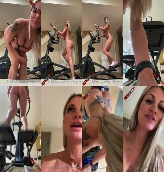 Jenny Jinx - morning naked workout