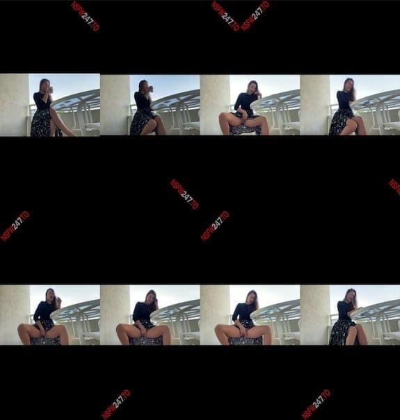 Dani Daniels balcony masturbation snapchat premium 2021/02/04