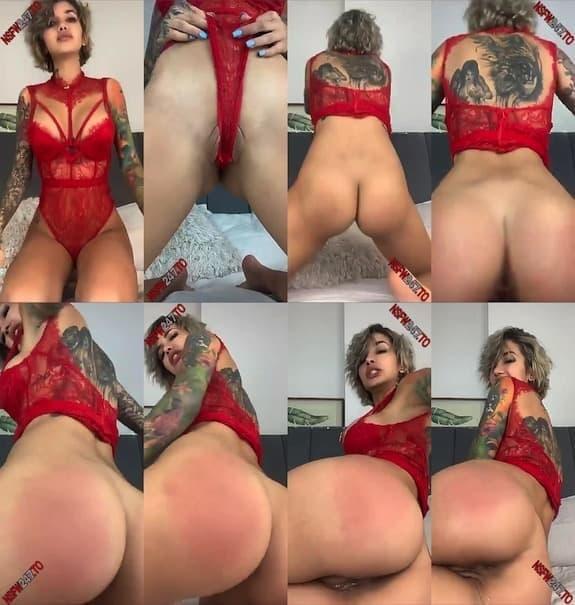 Agata Ruiz sexy red bodysuit tease snapchat premium 2021/02/16