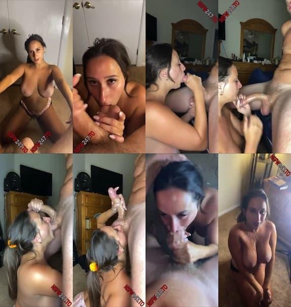 Ashley Adams blowjob & cum on me snapchat premium 2021/08/24